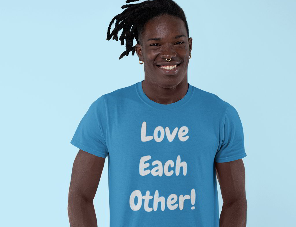 Love Each Other organic T-Shirt from Hello Human Range